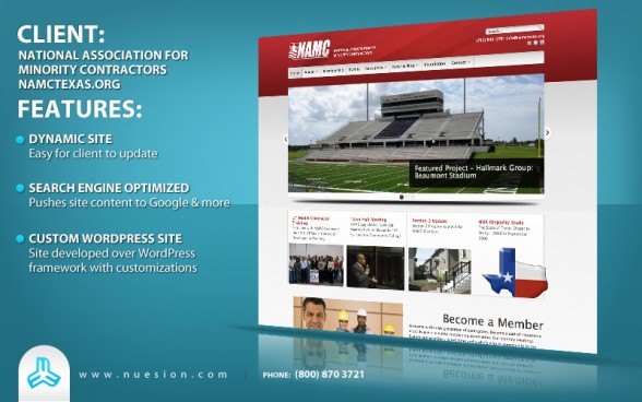Wordpress Non-Profit - NAMC Texas Web Development