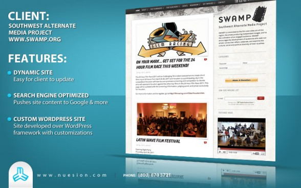 Nuesion - SWAMP - Houston Film Nonprofit WordPress