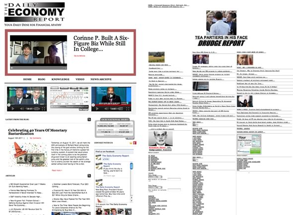The Daily Economy Report Vs Drudge Report