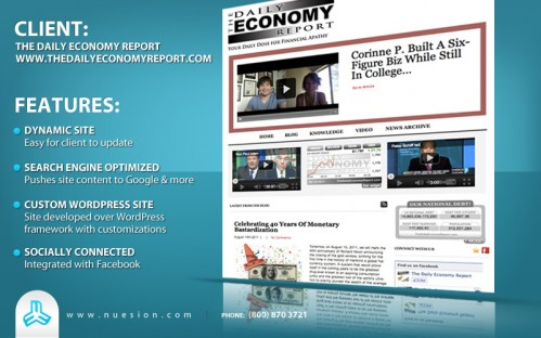The Daily Economy Report - Custom WordPress Design